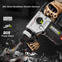 Worx 20V Cordless Electric Rotary Hammer Pick Impact Drill  Brushless Motor Professional Power Tool WU388 SDS Chuck Free Return