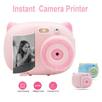 Mini Kids Instant Camera Graffiti Photo Printer Wifi 1080P 15mega pixels for Digital SLR Camera Children Toy Video Recorder