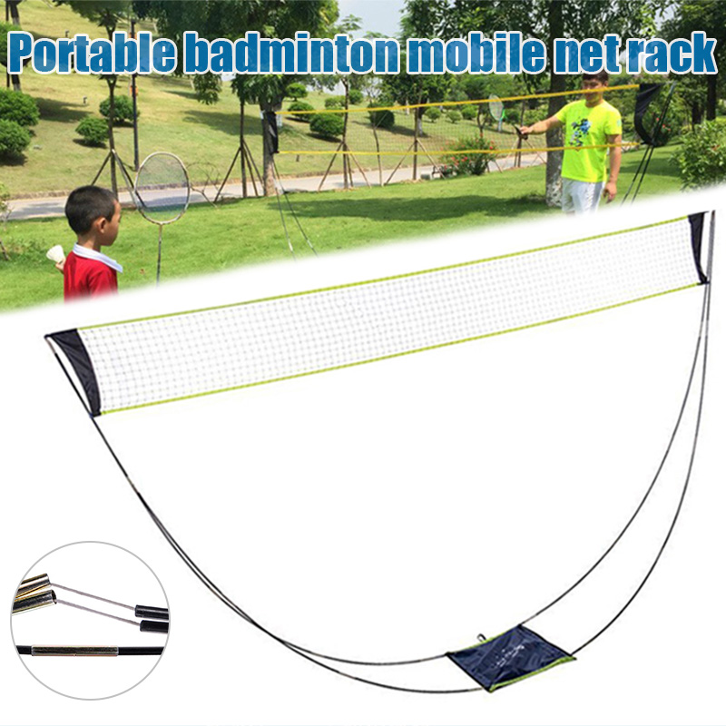 Newly Portable Badminton Mesh Holder Lightweight Foldable Mesh Rack For Any Surface SD669