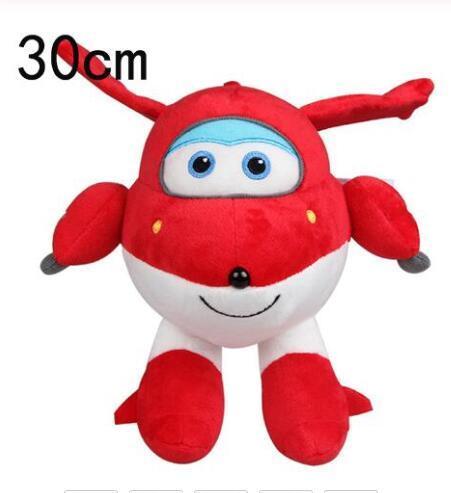 22cm/30cm Super Wings Jett Airplane Robot Plush Toy Soft Stuffed Dolls For Kids Gift