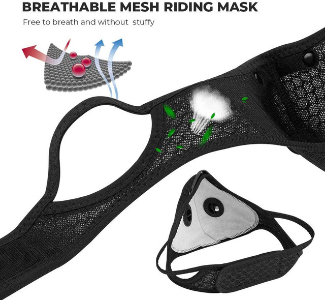 4PCS + 20PCS Face Mask Reusable cotton Comfortable Anti-dust Anti-saliva Anti Infection Anti-drip Splashproof Windproof