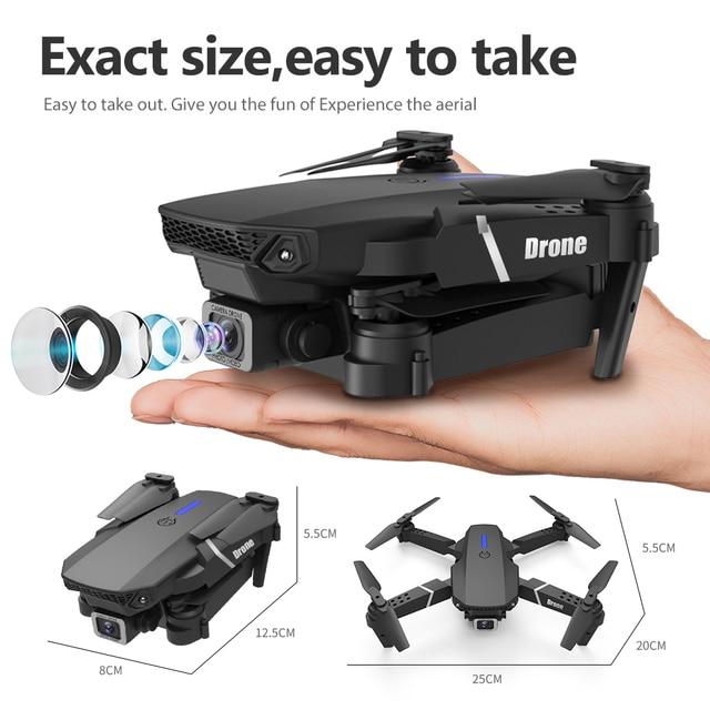 E525 pro rc quadcopter profissional obstáculo evitar zangão câmera dupla 1080p 4k altura fixa mini dron helicóptero brinquedo 6