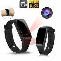 Kuulee 1080 p pulseira relógio inteligente mini filmadora com câmera dvr gravador de vídeo moda unisex relógio inteligente|Acessórios inteligentes| |  -