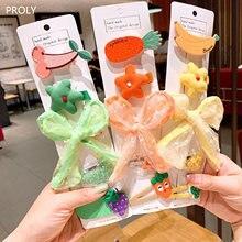 Proly 5/шт/комплект Новые Девушки фрукты заколки набор Дети