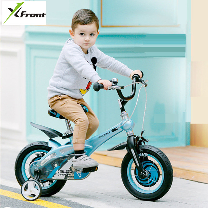 New Brand Magnesium Alloy Frame Child Bike 12/14/16 Inch Auxiliary Wheel Dual Disc Brake Bicycle Boy Girl Children Buggy