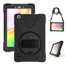 360 Degre Case For Samsung Galaxy Tab A 8.0 2019 T290 T295 SM-T290 T297 Tablet Kids Silicone Hard Cover