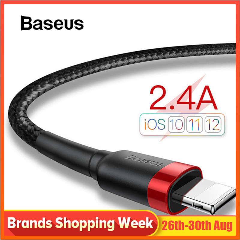 Baseus USB Cable for iPhone x Charger Charging Cable for iPhone 8 7 6 6s plus USB Data
