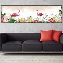 Painting art print Flamingo poster painting on the wall picture home decor canvas