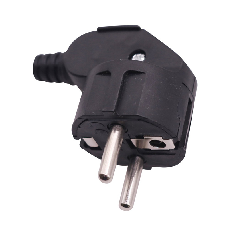 H709337df6a3947d1abb37d6b0b1fa116U - 16A EU 4.8mm AC Electrical Power Rewireable Plug Male for Wire Sockets Outlets Adapter Extension Cord Connector plug