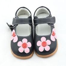 Обувь для девочек из натуральной кожи; Цвет Черный; mary jane; с цветами; белая роза; детская обувь; хорошее качество; ; красивая обувь для маленьких детей