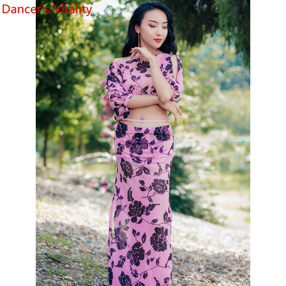 Belly Dance Practice Clothes New Top Skirt Set Women Beginners Oriental Indian Dancing Summer Competition Garments Outfits