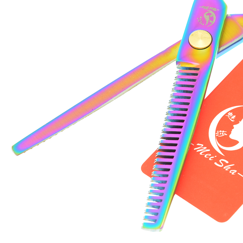 Meisha 5 5 inch Rainbow Hair Cutting Thinning Scissors Set Japan 440c Hairdressing Shears Barber Salon Haircut Tool HA0076 in Hair Scissors from Beauty Health