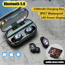 купить TWS Wireless Bluetooth earphones With Microphone Charging Box LED Display Sports Waterproof Bluetooth Earphones Wireless Earbuds в интернет-магазине