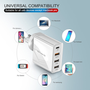 Image 5 - 48W Multi Quick Charger PD Type C USB Charger for Samsung iPhone Tablet QC 3.0 Fast Wall Charger US EU UK Plug Adapter