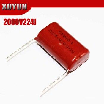 5 uds 2000V224J CBB paso 30MM 2KV 220NF 0,22 UF 224J2000V CBB condensador de película de polipropileno
