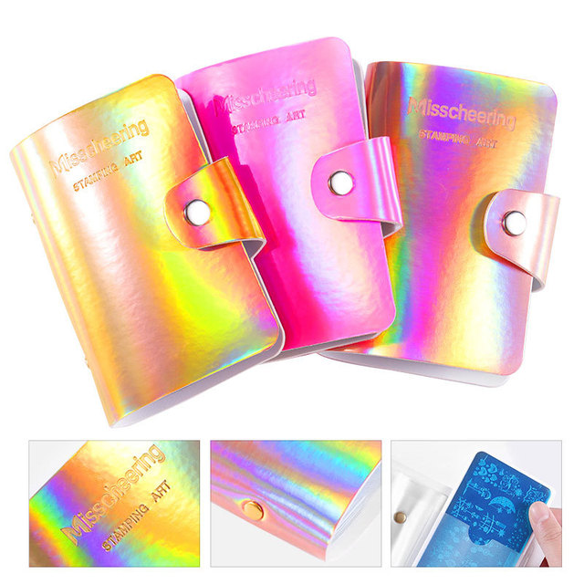 20/32Slots Nail Art Stamping Plate Case Holder Nail Stamp Template Holder Album Storage For Dia 6.5cm*12.5/6cm*12cm Stencil 3