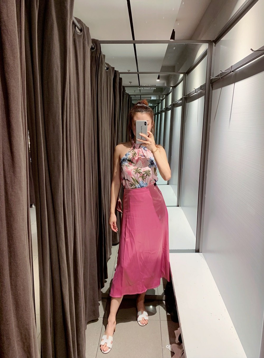 2019 Europe And America Macaroon Color Satin Textured Skirt 2019 Summer New Products Solid Color Skirt Full Skirt