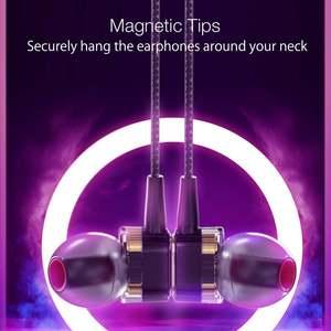 Image 3 - BlitzWolf BW ES4 유선 헤드폰 헤드셋 듀얼 다이내믹 드라이버 이어폰 IPX5 인 이어 이어폰 3.5mm 유선 컨트롤 이어폰 헤드폰 마그네틱 마이크 하이파이 음악