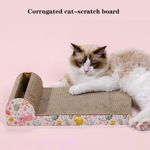 1Pc Corrugated Paper Cat Claw Plate Toys Kitten Pet Catch Practical Durable Room-saving Creative Portative