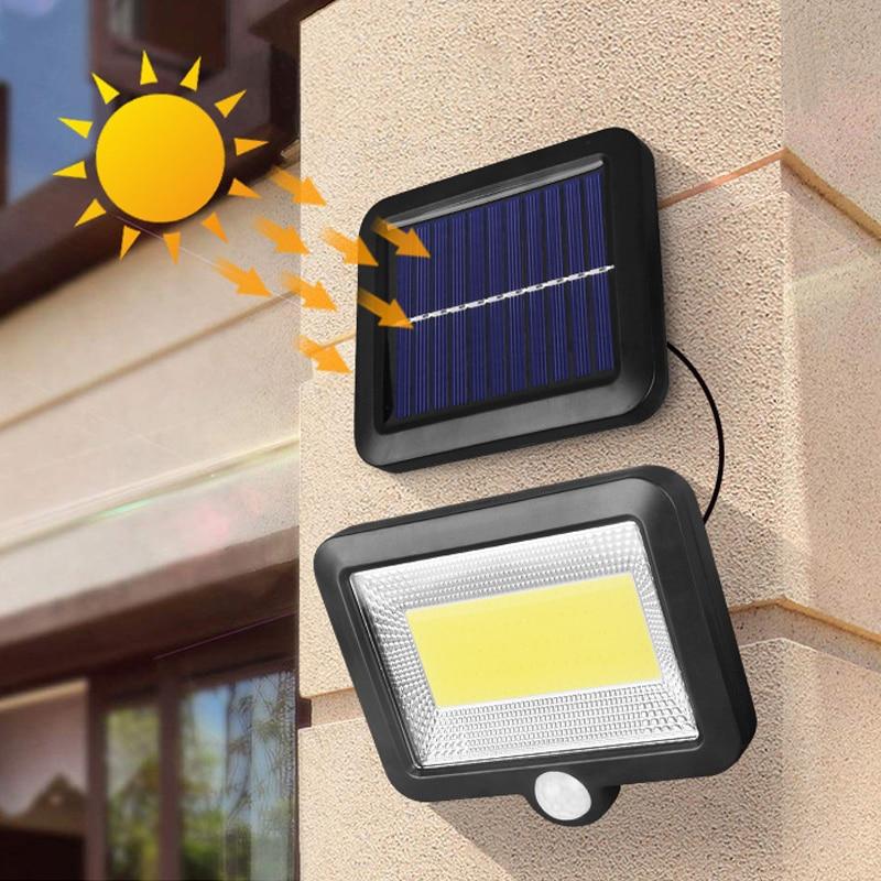 Outdoor Solar Lamp 12 Watts Solar Light  PIR Motion Sensor Wall Light Waterproof Solar Powered Sunlight For Garden Decoration