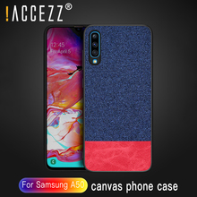 !ACCEZZ For Samsung Galaxy A50 Phone Case Luxury Fabric Soft TPU Canvas Cloth Ultra-thin Back Cover Shockproof Funda Coque