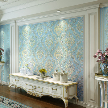3D European Style Engineering Wallpaper Living Room Bedroom TV Backdrop Wall Damascus Hotel Theme Rooms Wallpaper
