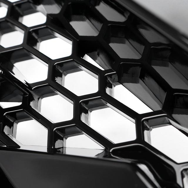 Voiture maille capot avant Grille pare-chocs avant couverture lèvre pour Honda Civic 2016 2017 2018 tous les modèles brillant noir Auto accessoires