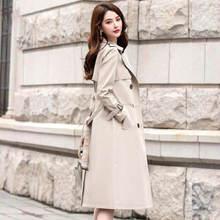 Женская Длинная ветровка новое шелковое свисающее пальто женское