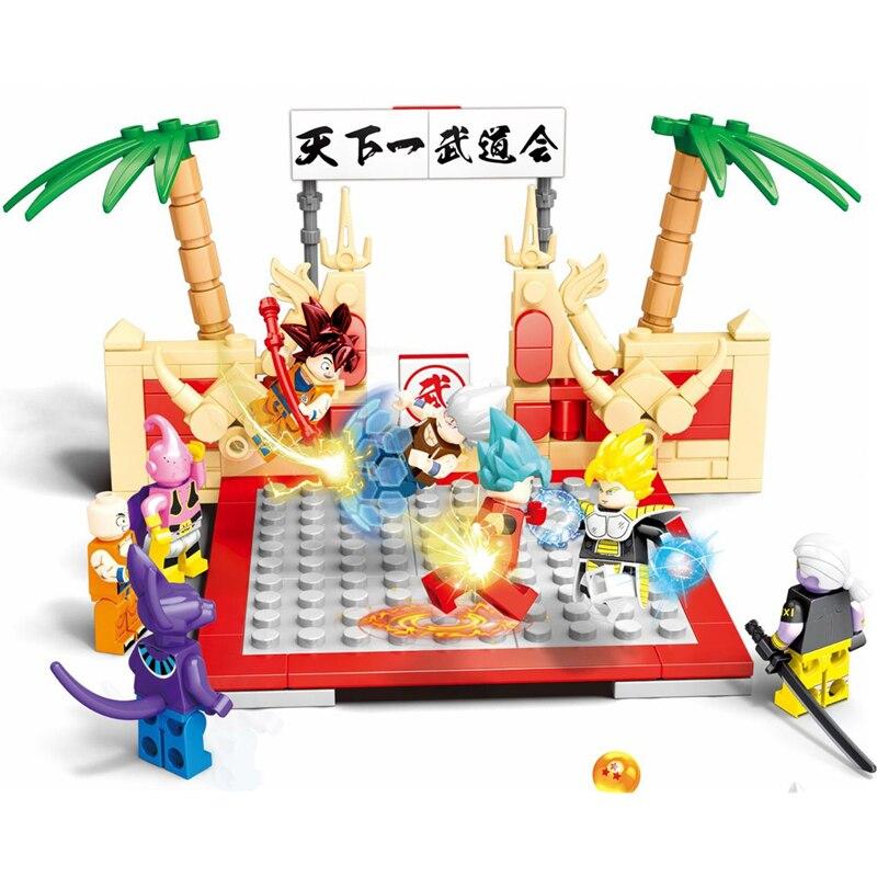 New Figures Dragon Ball Z Vegeta SAIYAN SUN GOKU MASTER ROSHI Super Heros Building Blocks Sets Kids Toys Compatible Creator