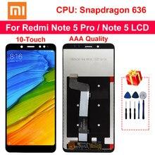 Dokunmatik ekranlı 10 dokunmatik Xiaomi Redmi not 5 Pro için LCD ekran yedek parçalar için Redmi not 5 LCD snapdragon 636