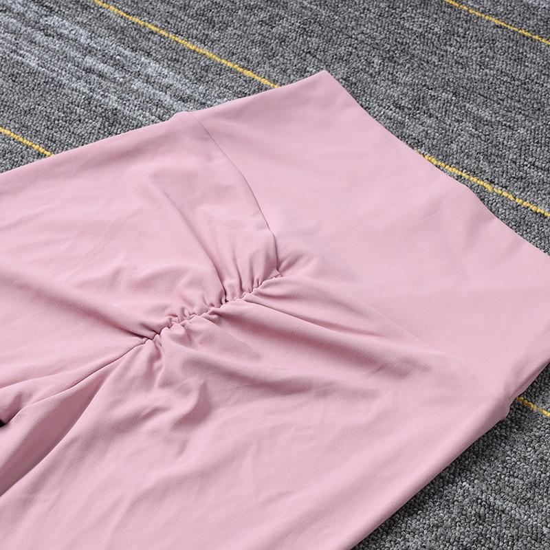 SOISOU New Yoga Pants Women Leggings For Fitness Nylon High Waist Long Pants Women Hip Push UP Tights Women Gym Clothing 3