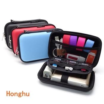 2.5 inch mobile hard disk bag multi-function data cable digital accessories storage waterproof power headphone bag
