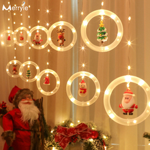 Christmas Lights Copper Wire Fairy String Light Holiday Santa Claus Christmas Tree Decorations Strip Light for Outdoor Indoor