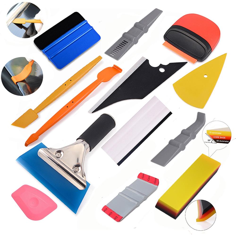 FOSHIO, conjunto de herramientas de envoltura de vinilo para coche, escurridor magnético, espátula, espátula, cortador de envoltura de película de fibra de carbono, herramienta de teñido de ventana
