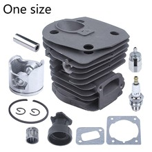 44mm nikasil chapeado motosserra cilindro pistão junta peças de reposição kit para husqvarnas 350 351 353 346xp com entrada g8tb