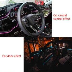 Image 4 - JURUS bande de lumière dambiance pour moto, 5M, 10 couleurs, éclairage dambiance, ligne froide EL, moulage Flexible pour lintérieur