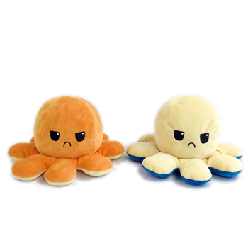 1pcs Flip Transform Plush Toy Soft Sequins Colorful Octopus Stuffed Color Change Doll Home Decor Pillow Toy Gift For Kids image