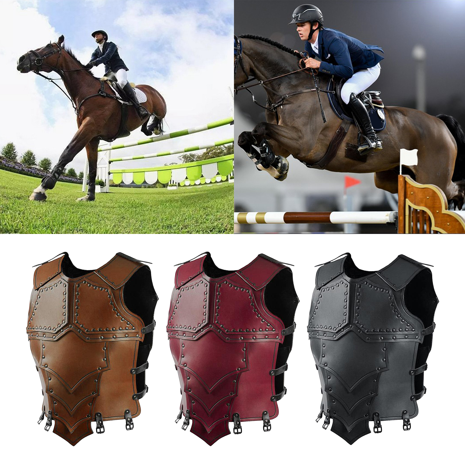Horse Riding Vest, Body Protector Safety Vest, Body Protective Damping Sports Vest, Comfortable Lightweight Safety Waistcoat