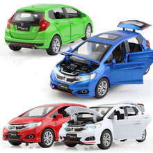 1:32 Honda Fit Metal Toy Alloy Car Die Cast Toy Car Model Car Pull Back Children Toy Collectible Gift 103