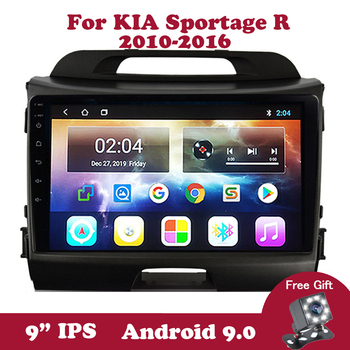 Android 9 For KIA Sportage R 2010 2011 2012-2016 Multimedia Player 9 inch IPS DVD Car Radio Autoradio Video Carplay OBD2 DAB image