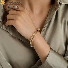 New fashion men hip hop bracelet alloy Unisex bracelets gold Cuban Link Chain Bracelets for Women Unisex Wrist Jewelry Gifts