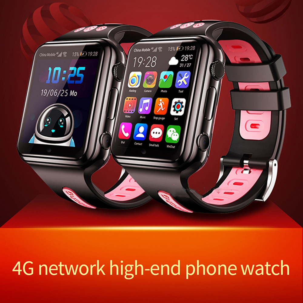 2020 W5 Children Smart Watch 4G SIM Card Camera Touch Screen SOS Video Call GPS Tracking Location Finder Kids Baby Smart Watches