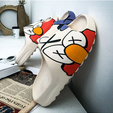 House Slippers Shoes EVA Graffiti Slides Men Quality Casual Cartoon Luxury Brand Indoor