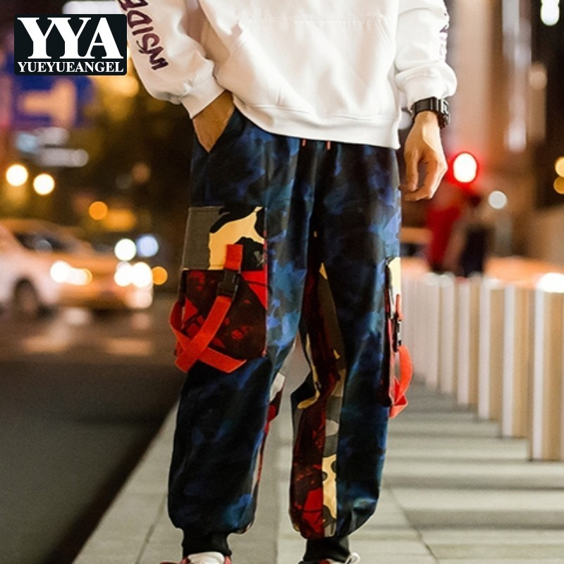 Harajuku Hip Hop Loose Camouflage Harem Pants Men Plus Size M-5XL Vintage Cargo Trousers Male Casual Joggers Streetwear Pants
