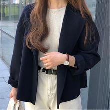 Минималистичные твидовые короткие женские куртки Осень Зима