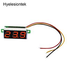 0.36inch LED Voltmeter Digital Voltmeter Voltage Meter Adjustable Volt Detector Tester Monitor 4.5-30V 3 Lead Wire 12V 24V Car