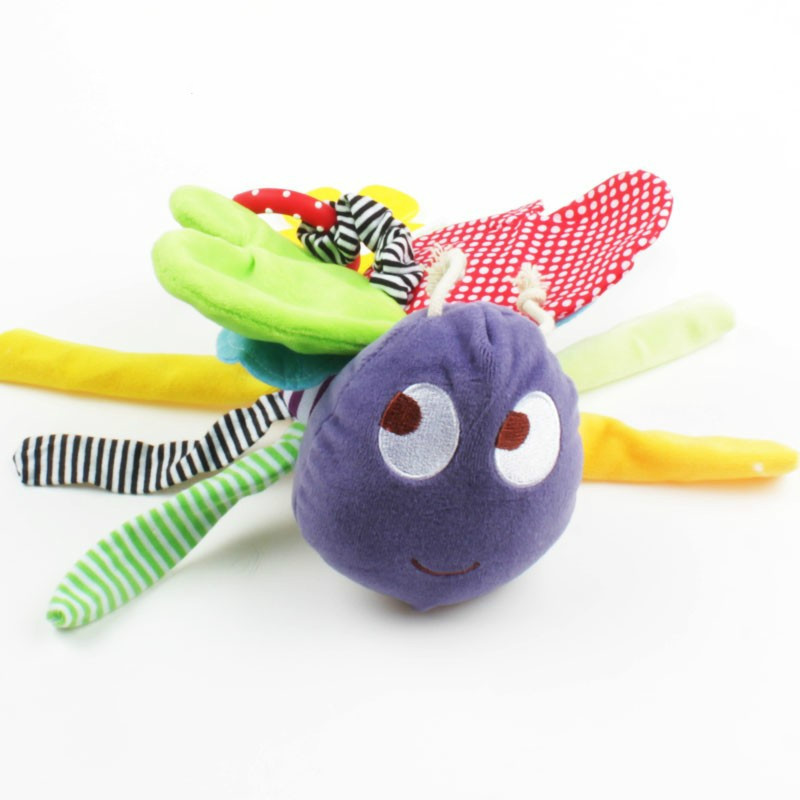 Butterfly Baby <font><b>Toys</b></font> 0-12 Months Plush <font><b>Mamas</b></font> <font><b>Papas</b></font> Doll Baby Rattle Kids Mobile Hanging Bed Bell Car Stoller Brinquedos image