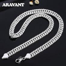 925 prata 10mm 20/24 polegadas colares corrente para homens colar de prata jóias