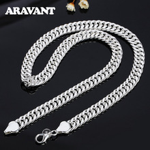 925 Silver 10MM 20/24 Inches Necklaces Chain For Men Silver Necklace Jewelry