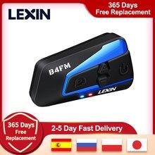 Lexin-intercomunicador multifunción para casco de motocicleta, auriculares de 1500M con 4 vías, Bluetooth, resistentes al agua, con función FM, 1 unidad